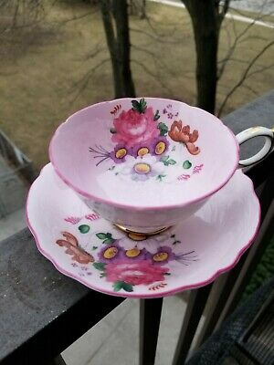 Paragon Teacup and saucer Paragon Tea cup Soft Pink Double Warrant Wide Mouth