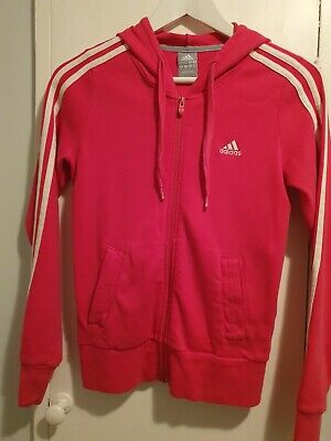 Girls Pink Adidas Zip Up hoodie size S