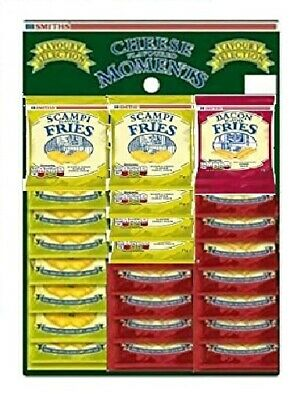 BACON FRIES & SCAMPI FRIES MIXED Card 12 PACKS EACH X 27g FRESH STOCK