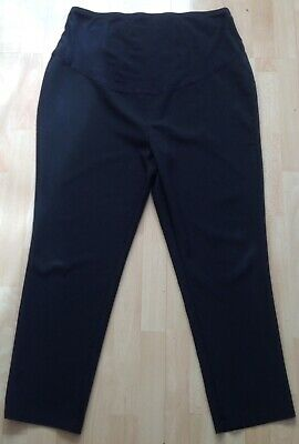 George Black Over Belly Straight Leg Maternity Trousers Size 20 (30)L