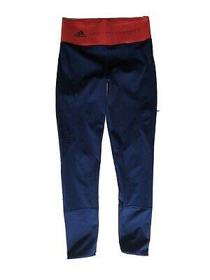 Women's Adidas Stella Mccartney Gym Leggins Navy And Red Size 8 To 10