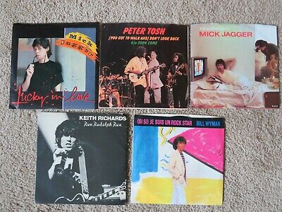 Stones Alone (Rolling Stones) 45's. Mick Jagger, Keith Richards and Bill Wyman.