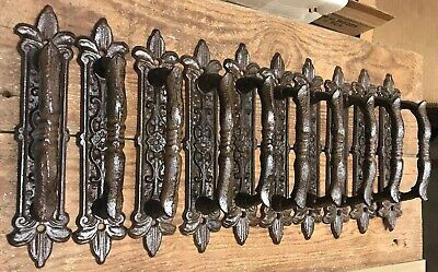 10 Door Barn Cast Iron Gate Pull Shed Handle Rustic Antique Style Handles 9-1/2