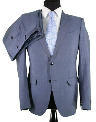 NWT Current Ermenegildo Zegna Suit US 38R Trofeo Mohair Torino Air Force Blue