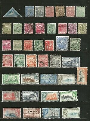 Nice lot-British Colonies -Mh/ Used 1800's-1950's inc BOB.-nice cancels