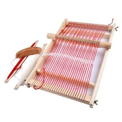 Knitting Machine Educational Children Durable Diy Wooden Frame Gift Toy Assemble