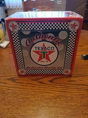 Preowned Crowm Premiums Texaco Pedal Car Racing Set
