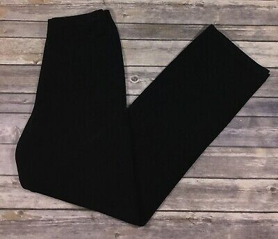 Chicos Travelers Womens Slinky Casual Pull On Pants 1 Tall Medium 10 Black J13