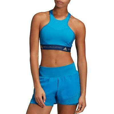 Adidas Stella McCartney Womens Blue Fitness Running Yoga Sports Bra XS BHFO 5511