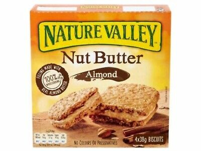Nature Valley Nut Butter Almond X5 Boxes(X4 38g Biscuits Per Box)