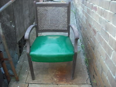 Collectable Vintage Chair.all There But Needs Restoration. Good Canework.