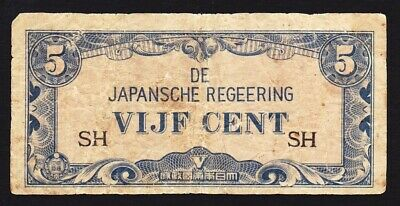 Japan Invasion Occupation Indonesia (East Indies) WWII - Vijf (5c) Cent