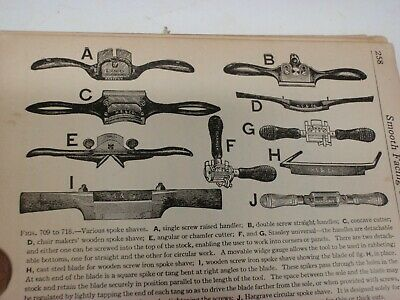 Wood Planes,chisels,drawknives, Spokeshaves Saws, Care & Use Books