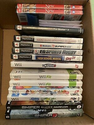 Lot of 16 Video Games for Sale, PC, Sony PS1 & PS2, Microsoft Xbox, Wii, 2 DVDs