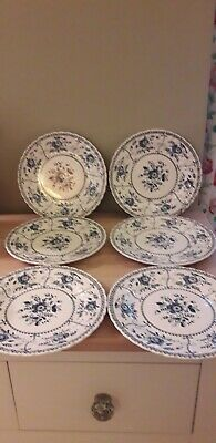 Johnson Brothers Blue Indies 6 Salad,Small Dinner Plates. Size 22.5 Cm.