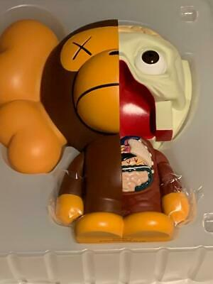 """FAST SHIPPING BROWN 8/"""" KAWS X BAPE DISSECTED BABY MILO"""