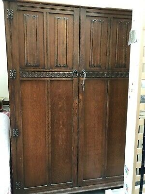CROWN AY FURNITURE Vintage 1920/30's Oak Wardrobe Good condition