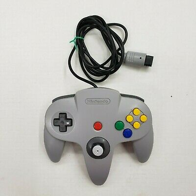 Official Nintendo 64 N64 Grey Controller Authentic Original OEM Tested