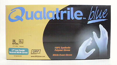 "100 ct. Disposable Nitrile Exam Gloves, 12"" Textured, Latex-Free, Blue, XXL"