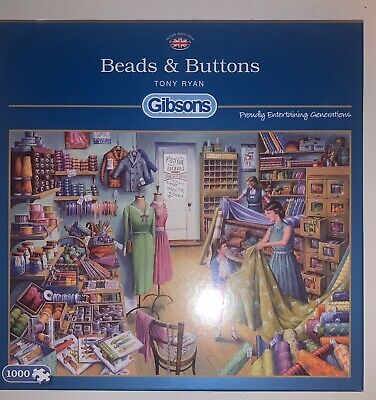 "Gibson 1000 Piece Jigsaw ""Beads And Buttons"" Complete"