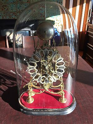 Antique Skeleton Clock 19th Century Signed Cruikshank and AJ Frost
