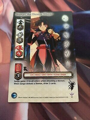 Inuyasha TCG Sango Storage Deck Tin Promo card and Shimei Pack Included
