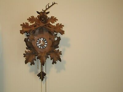 Antique / Vintage german  Black Forest wood cuckoo clock