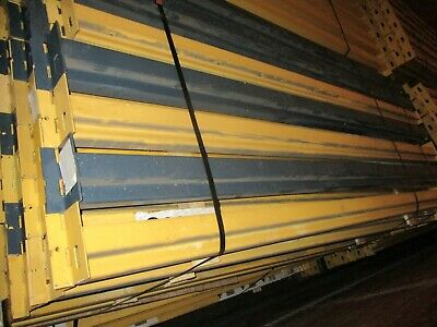 "Slotted Pallet Racking Single Beam 102"" with (2) Clips Used"