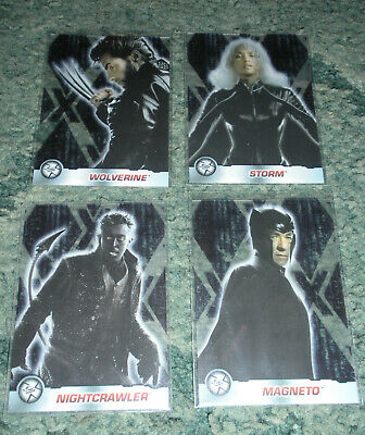 X-Men X2 Movie X-Citing Clear 1 2 3 4 Retail Cards 2003 Nm Rare Marvel Comics