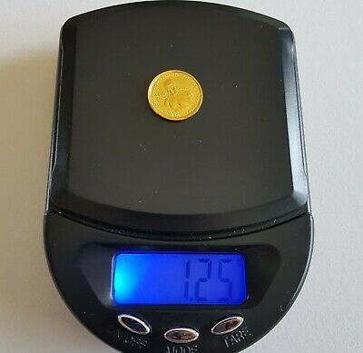 Genuine Solid 24k Gold Coin. SMALL! 9999 Gold. Cambodia. Collectable.  Scrap?