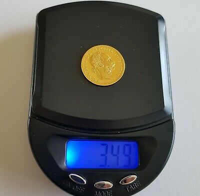 Genuine Solid 22k Gold Coin. Collectable. 3.49g. 20mm. Scrap Or Collect