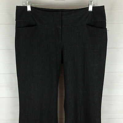 EXPRESS Editor womens sz 8 stretch black speckled flat front bootcut dress pants