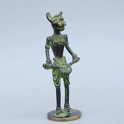 Collectable China Handwork Old Bronze Carve Myth Animal Delicate Exorcism Statue