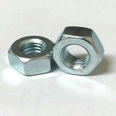 M7 Full Nuts Zinc Plated Hex Nut Metric 7mm