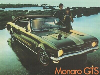 Holden HT Monaro sales brochure from South Africa