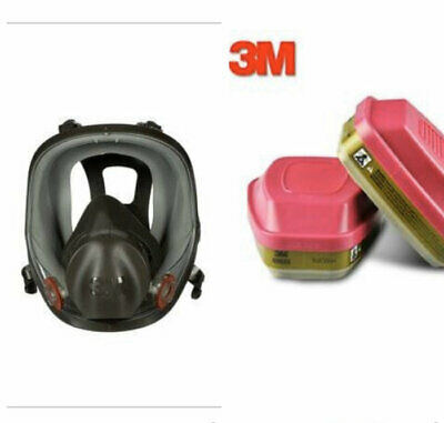 3M FULL FACE RESPIRATOR MASK #6800 with 1 pair (a total of 2) FILTER CARTRIDGES