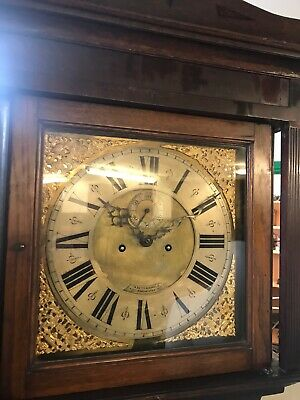 Oak Cased Grandfather Clock Circa 1820