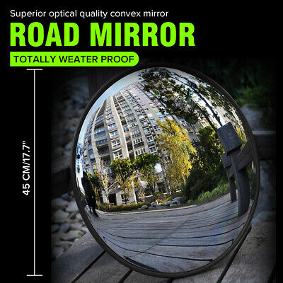 45cm Wide Angle Security Curved Convex Road Traffic Mirror Driveway  y