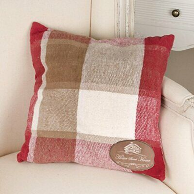 [sqf] Dibor - French Style Accessories for the Home Country Retreat Tartan Rosso