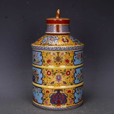 Collect China Old Enamel Porcelain Paint Flowers Royal Precious Delicate Tea Pot
