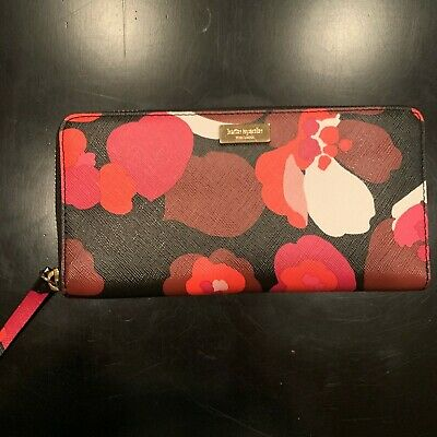 Kate Spade black and floral zip-around wallet...new without tags...beautiful!