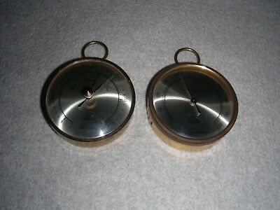 The Nature Co. German Made Round Brass Barometer & Hygrometer (free shipping)