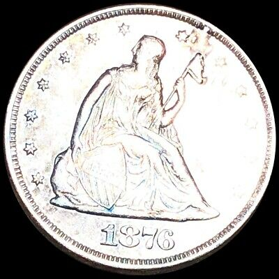 1876 Seated Twenty Cent Piece NEARLY UNCIRCULATED Philly 20c Liberty Silver NR!