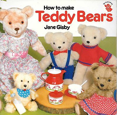 How to make teddy bears JANE GISBY easy vintage 1987 patterns clothes jointed