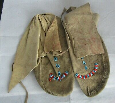 Vintage Native American, Indian Beaded Moccasines