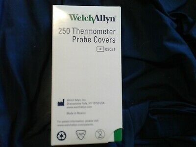 Welch Allyn Thermometer Probe Covers REF # 05031 - (1) Box of 250 Probe Covers