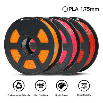 CA ANYCUBIC 1.75mm PLA 3D Printer Filament 1 Kg spool, 2.2 lbs. Multi-Coloured