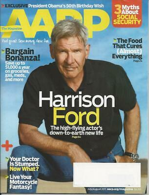 HARRISON FORD July / August 2011 AARP magazine PRESIDENT BARACK OBAMA interview