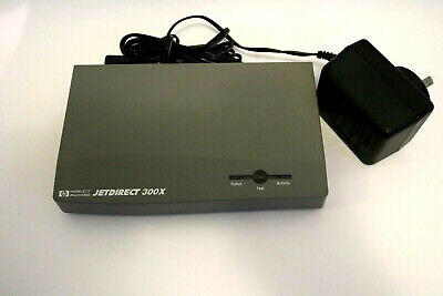 HP Jetdirect  300X J3263A 10/100 Print Server With Power Supply - Excellent