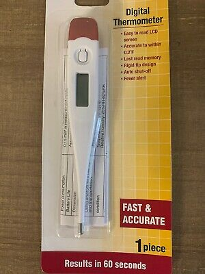 Digital Thermometer Fever Alert LCD temperature Accurate Oral Armpit Rectal (1)